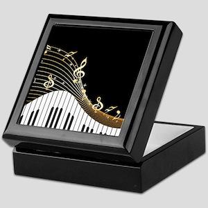 Ivory Keys Piano Music Keepsake Box