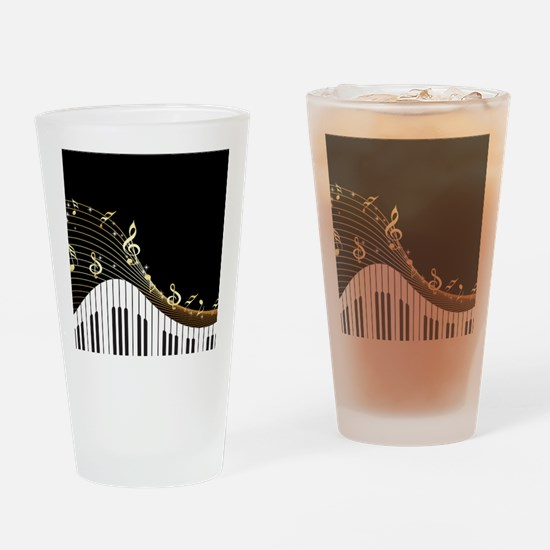 Ivory Keys Piano Music Drinking Glass