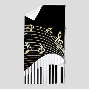 Ivory Keys Piano Music Beach Towel