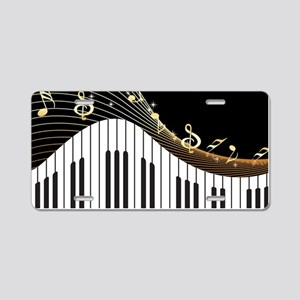 Ivory Keys Piano Music Aluminum License Plate