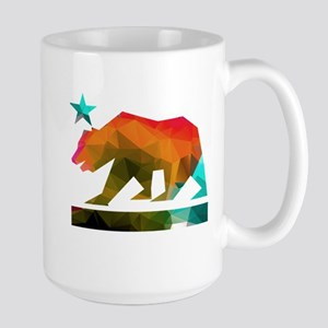California Republic Bear (fractal design) Mugs