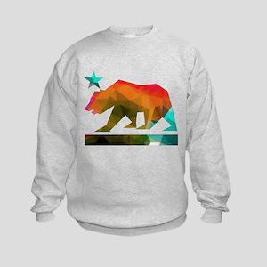 California Republic Bear (fractal design) Sweatshi