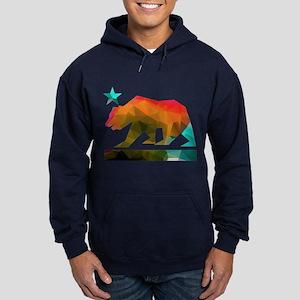 California Republic Bear (fractal design) Hoodie