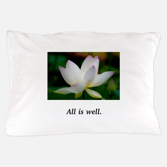 Lavender Light Water Lily Gifts Pillow Case