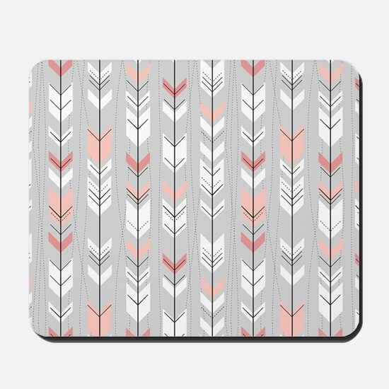 Feathered Flight on Grey Mousepad