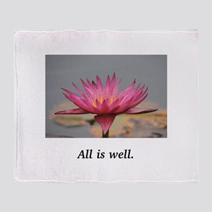 All Is Well Water Lily Gifts Throw Blanket