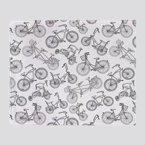 Bicycle Mania Throw Blanket