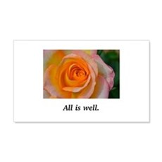 All Is Well Rose Blessings Wall Decal