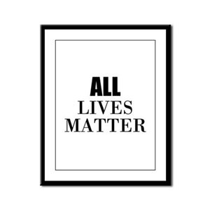 All Lives Matter Framed Panel Print