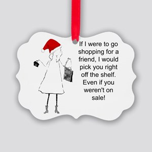 Shopping for a Friend, Christmas Ornament