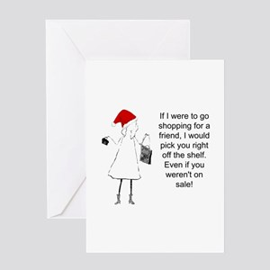 Shopping for a Friend, Christmas Greeting Cards