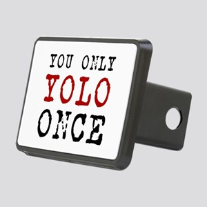 YOLO Once Rectangular Hitch Cover