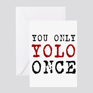 YOLO Once Greeting Cards