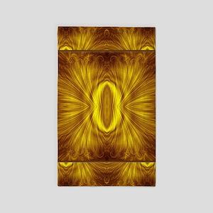 Golden Light Fractal Area Rug