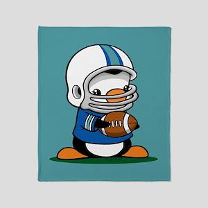 Football Penguin Throw Blanket