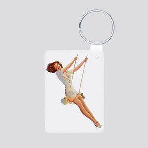 Pin up Aluminum Photo Keychain