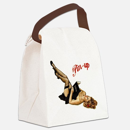 Funny Vintage pin up Canvas Lunch Bag