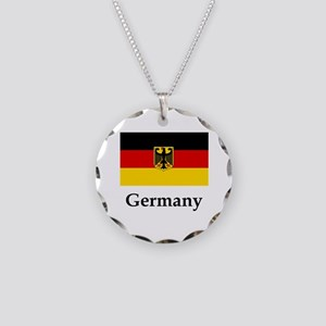Germany Flag #2 Necklace Circle Charm