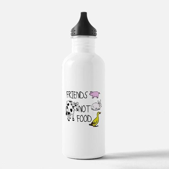 FRIENDS NOT FOOD Sports Water Bottle