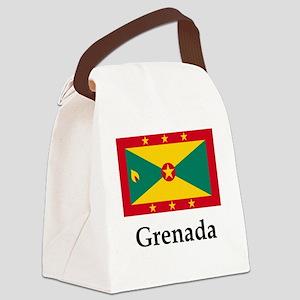 Grenada Flag Canvas Lunch Bag