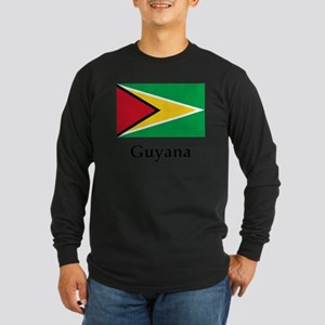 Guyana Flag Long Sleeve Dark T-Shirt