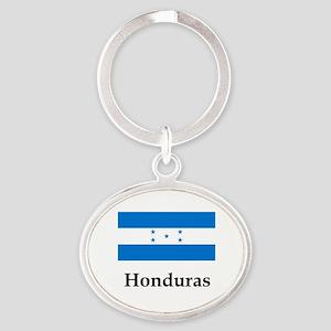 Honduras Flag Oval Keychain