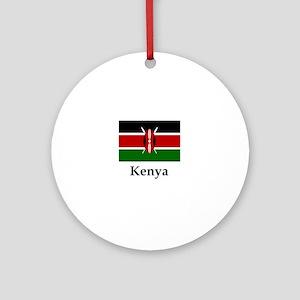 Kenya Flag Round Ornament