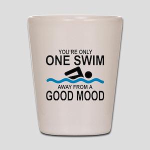 schwimmen Shot Glass