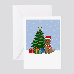 Airedale Season's Greeting Card