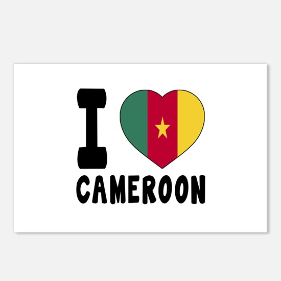 I Love Cameroon Postcards (Package of 8)