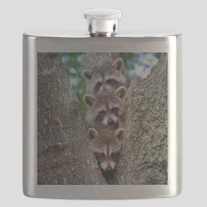 Baby Raccoons Flask