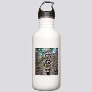 Baby Raccoons Water Bottle