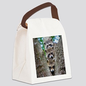 Baby Raccoons Canvas Lunch Bag