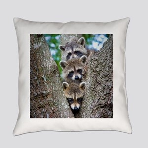 Baby Raccoons Everyday Pillow