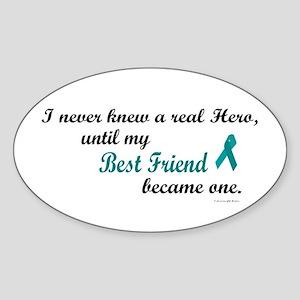 Never Knew A Hero OC (Best Friend) Oval Sticker