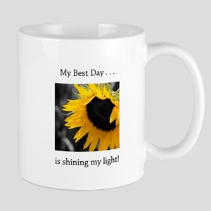 My Best Day Shine Your Light Sunflower Mugs