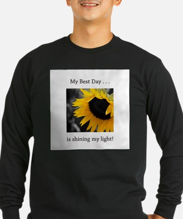 My Best Day Shine Your Light Sunflower T
