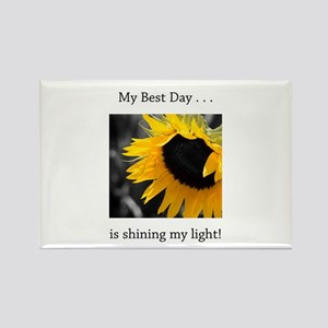 My Best Day Shine Your Light Sunflower Magnets