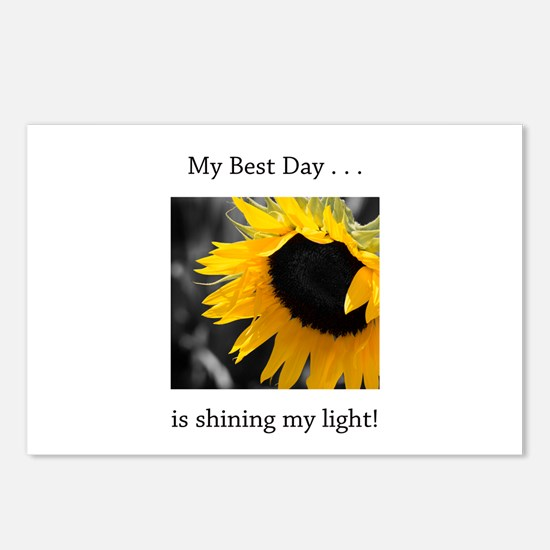 My Best Day Shine Your Light Sunflower Postcards (
