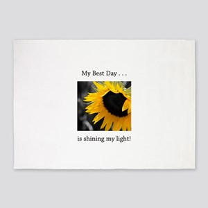 My Best Day Shine Your Light Sunflower 5'x7'Area R