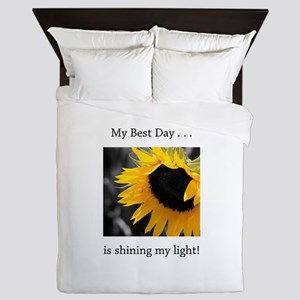 My Best Day Shine Your Light Sunflower Queen Duvet