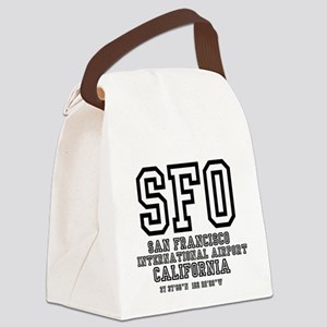 AIRPORT CODES - SFO - SAN FRANCIS Canvas Lunch Bag