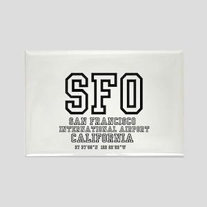 AIRPORT CODES - SFO - SAN FRANCISCO, CALIF Magnets