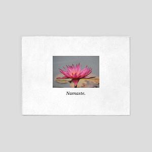 Magenta Water Lily Namaste 5'x7'Area Rug