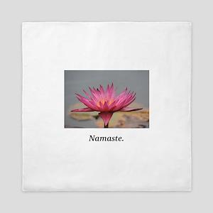 Magenta Water Lily Namaste Queen Duvet