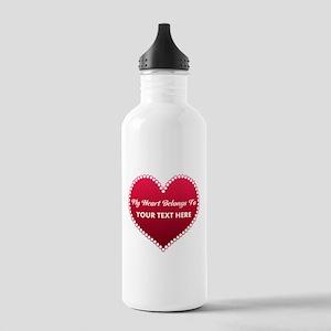 Custom Heart Belongs T Stainless Water Bottle 1.0L