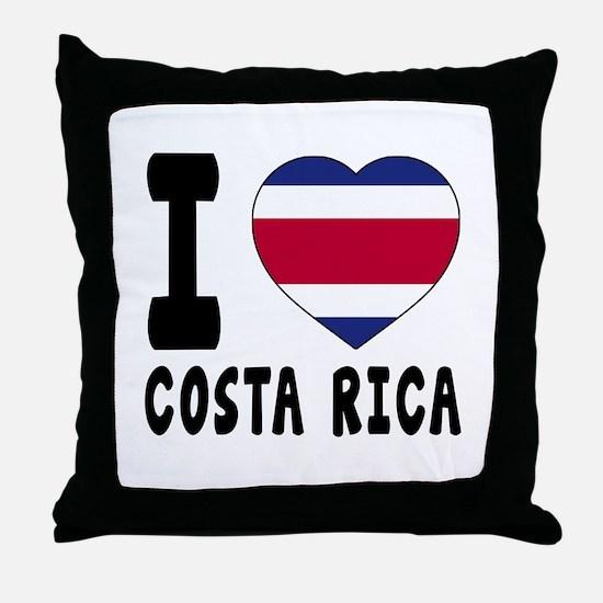 I Love Costa Rica Throw Pillow