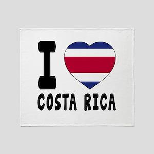 I Love Costa Rica Throw Blanket