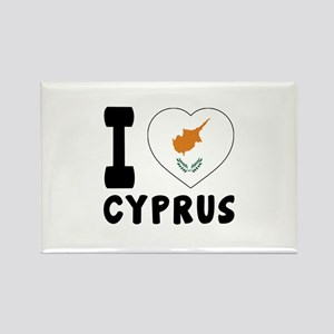 I Love Cyprus Rectangle Magnet