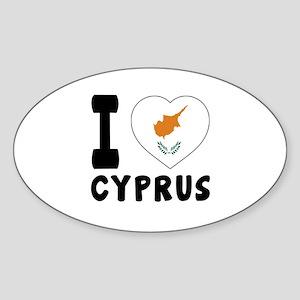 I Love Cyprus Sticker (Oval)